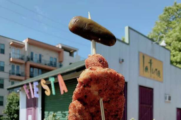 The Fiesta favorite chicken on a stick is available at La Tuna Grill.