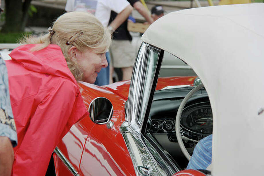 Attendees enjoy the sights and sounds at the 2019 Edwardsville Route 66 Festival last year. Photo: Charles Bolinger   Intelligencer File Photo