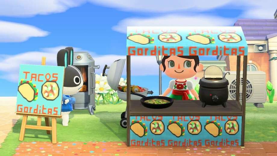 """Melissa Montoya, 27, said she was """"bummed"""" when Fiesta was pushed back, so she recreated the event on her island in the Animal Crossing game and invited all her friends to the virtual party on Saturday. Photo: Animal Crossing, Melissa Montoya"""