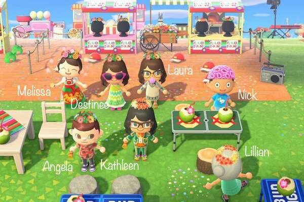 "Melissa Montoya, 27, said she was ""bummed"" when Fiesta was pushed back, so she re-created the event in her Animal Crossing game and invited all her friends to the virtual party on Saturday."