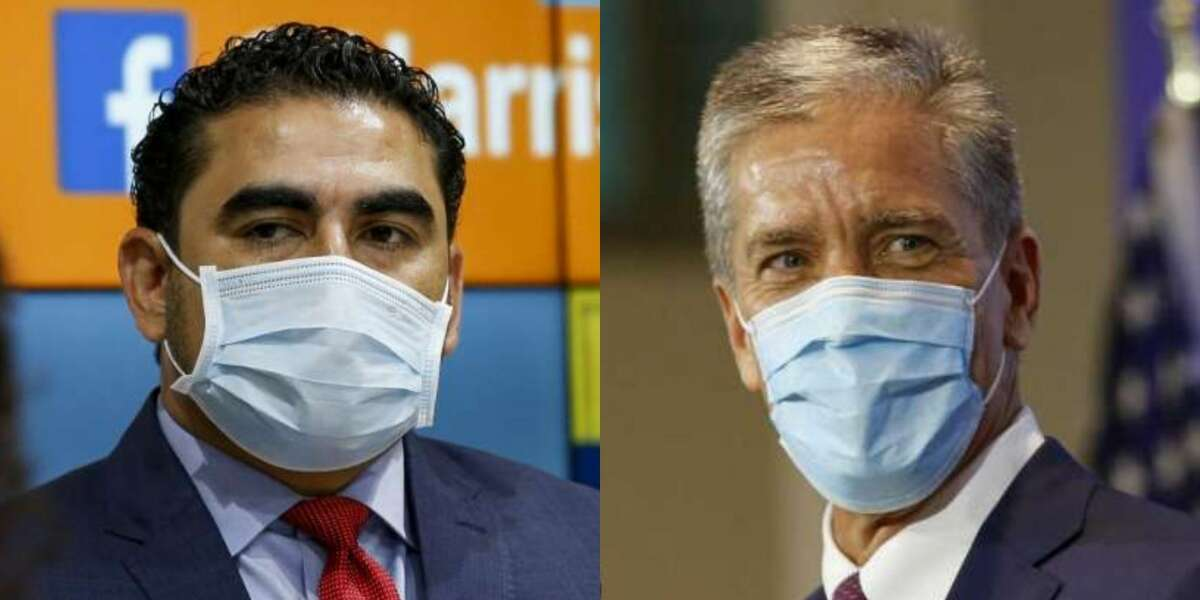 State rep. Armando Walle, left, and former Shell president Marvin Odum, right, were chosen as Harris County and Houston's COVID-19 recovery czars, respectively.>>>Learn more about the co-leaders who will help Houston relaunch the economy and recover from the pandemic...