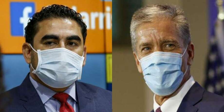 State rep. Armando Walle, left, and former Shell president Marvin Odum, right, were chosen as Harris County and Houston's COVID-19 recovery czars, respectively. >>>Learn more about the co-leaders who will help Houston relaunch the economy and recover from the pandemic... Photo: Title Slide