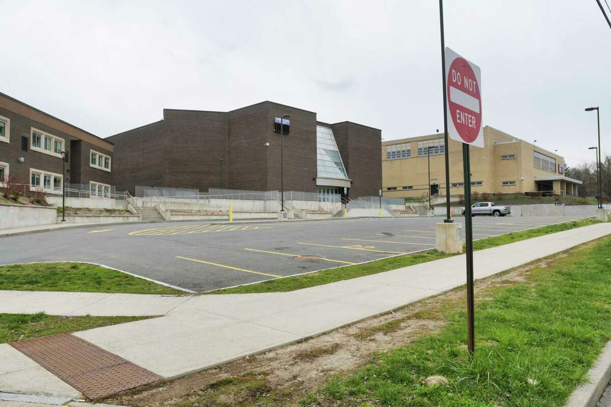 A view of Troy Middle School and Troy High School on Tuesday, April 21, 2020, in Troy, N.Y. (Paul Buckowski/Times Union)
