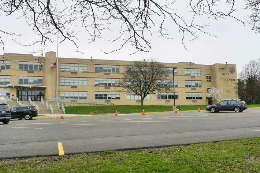 A view of Troy High School on Tuesday, April 21, 2020, in Troy, N.Y. (Paul Buckowski/Times Union)