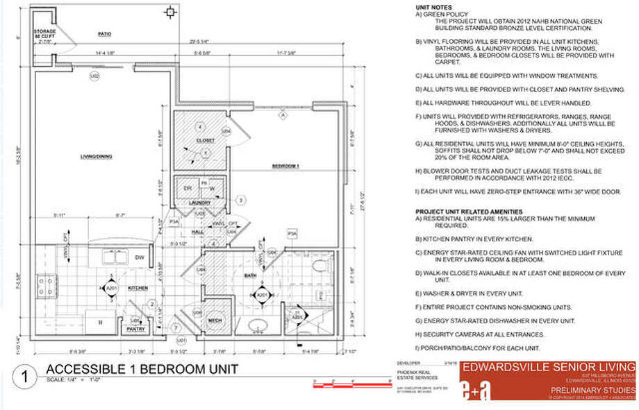 Floorplan for one of the 12 one-bedroom apartments that will be available next summer. Photo: Courtesy Of Phoenix Real Estate Services