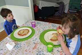 """We're not super adventurous nor are we culinary experts,"" says Senior Reporter Maggie Reardon. ""So it's just plain cheese pizzas with store-bought pizza dough for my kiddos. I managed to snag some premade pizza dough at the store a couple of weeks ago and froze it. I've been defrosting as needed. We made personal pizzas for lunch today. My 5-year-old has 'Pizza Mondays' at his preschool, so we're trying to keep the tradition going at home."""