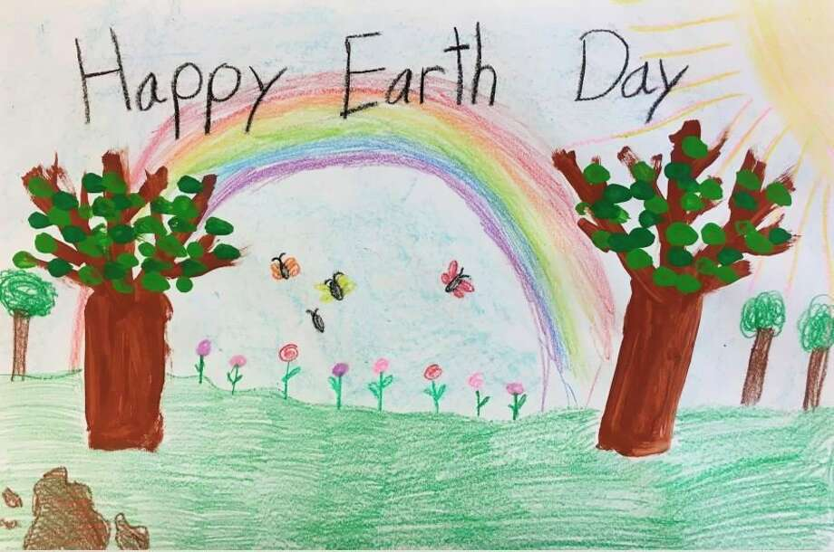 Monfort Elementary first grader Juliana Gjokaj won first place in the Michigan Earth Day 2020 poster contest. She is from Shelby Townshp. The poster contest included students in kindergarten through fifth grades; winners were chosen from each grade. Their posters were judged based on use of a theme that included plants, wildlife or ecosystems native to Michigan. The artwork was drawn by hand or digitally created. Each school hosted its own contest and submitted the top three posters for each grade. (Courtesy photo)