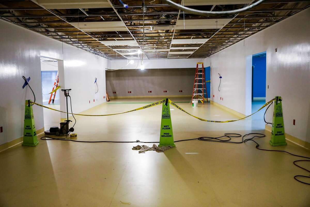 A Kaiser Permanente Laboratory which is under construction in Berkeley, California on Monday, April 20, 2020. The construction of the $14 million laboratory in Berkeley will be capable of processing 70,000 Covid-19 tests a week when it opens in early June.