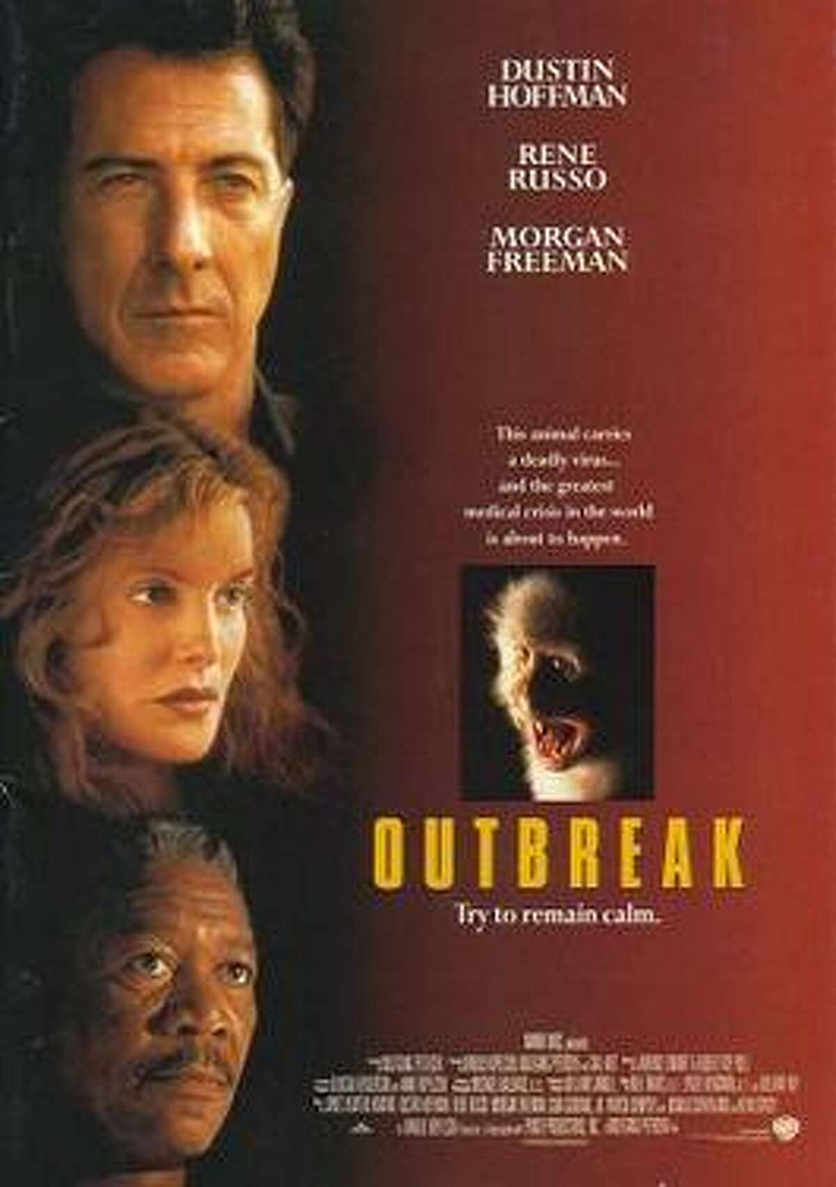 Outbreak (1995)Starring Dustin Hoffman, Rene Russo, Donald Sutherland and a young Cuba Gooding, Jr.,