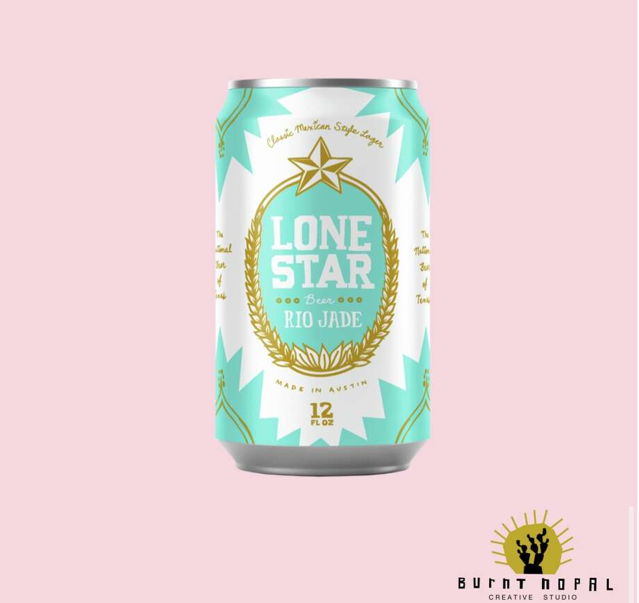 The new Lone Star beer will be available in Texas beginning at the end of this month with full distribution in May. The bright, turquoise packaging drinking-age shoppers will find on shelves comes from Burnt Nopal, the creative design studio founded in San Antonio by Olivia and Cruz Ortiz. Photo: Courtesy, Burnt Nopal