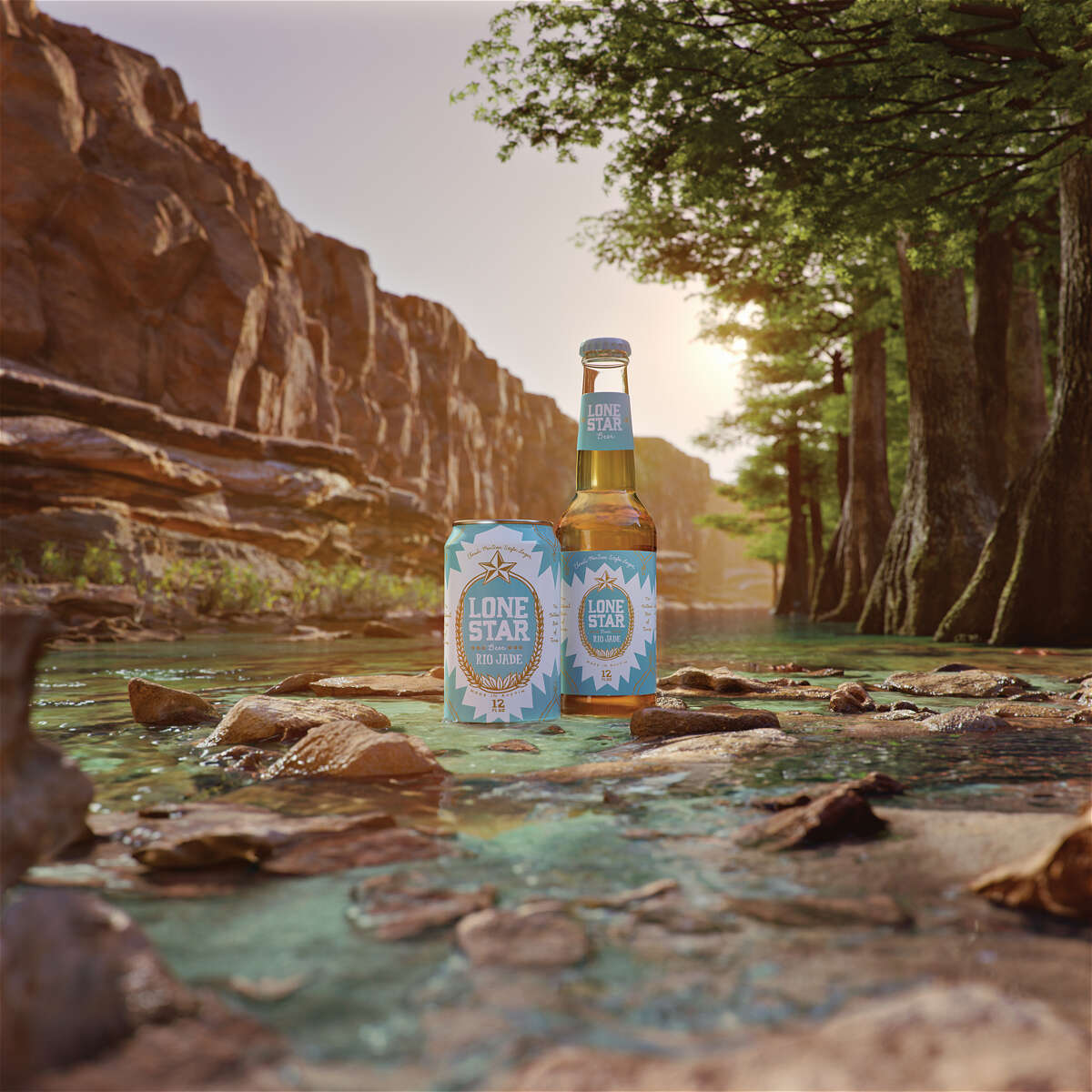 The new Lone Star beer will be available in Texas beginning at the end of this month with full distribution in May. The bright, turquoise packaging drinking-age shoppers will find on shelves comes from Burnt Nopal, the creative design studio founded in San Antonio by Olivia and Cruz Ortiz.