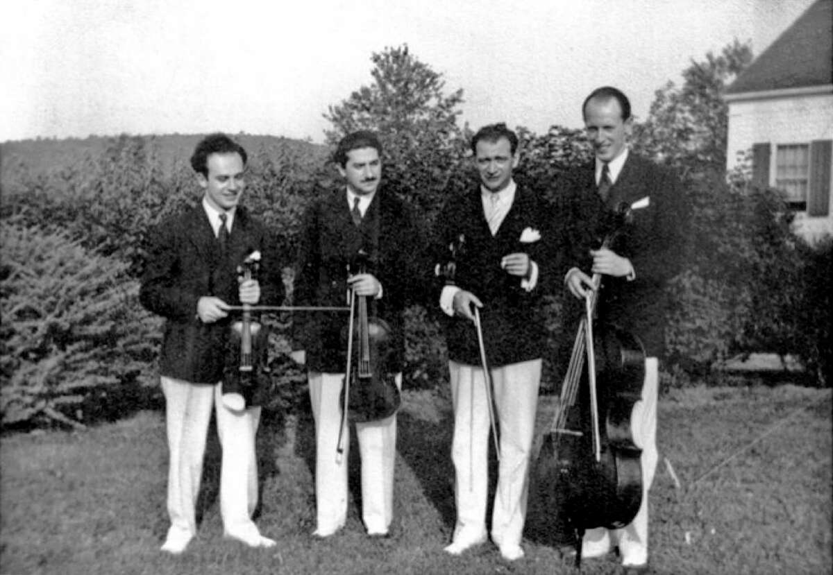 """The Gordon String Quartet, Music Mountain's founding ensemble, hit the road during WWII as the """"Quartet on Wheels"""" to keep the music alive in a time of adversity."""