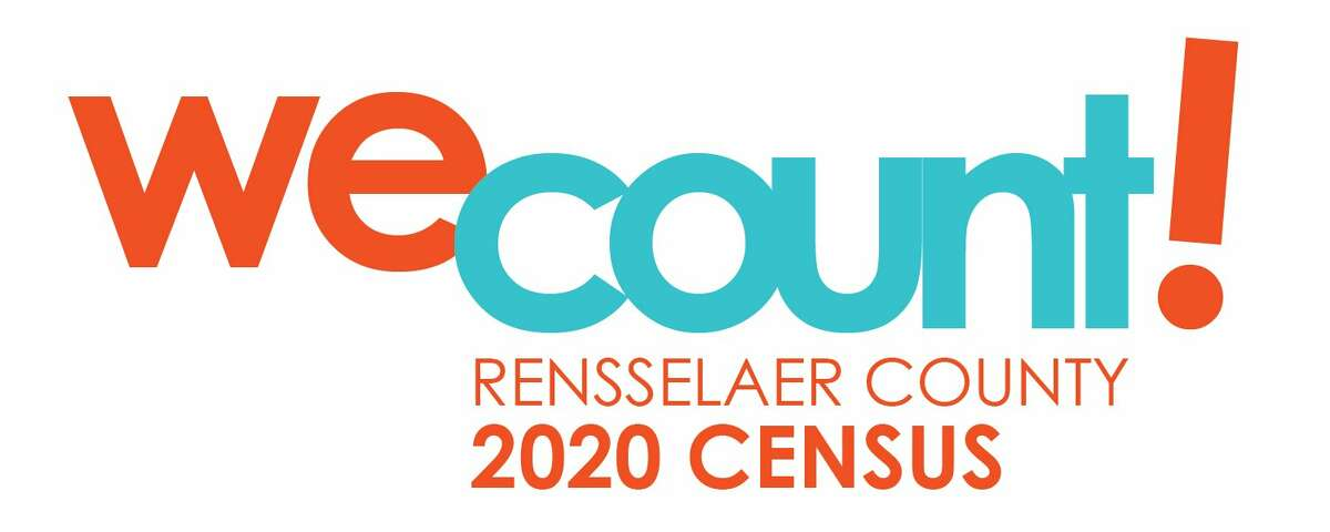A logo of the Rensselaer County Full Count Committee for the 2020 Census.