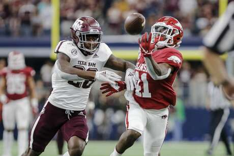 Demani Richardson (left) became an immediate contributor in the secondary upon arriving at Texas A&M last year.