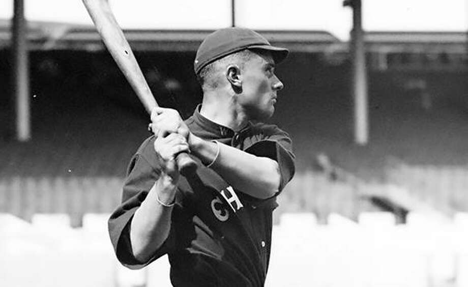 """Jersey County native Laverne """"Larry"""" Chappell is shown playing as a Chicago White Sox after becoming the most expensive outfield in baseball history in 1913."""