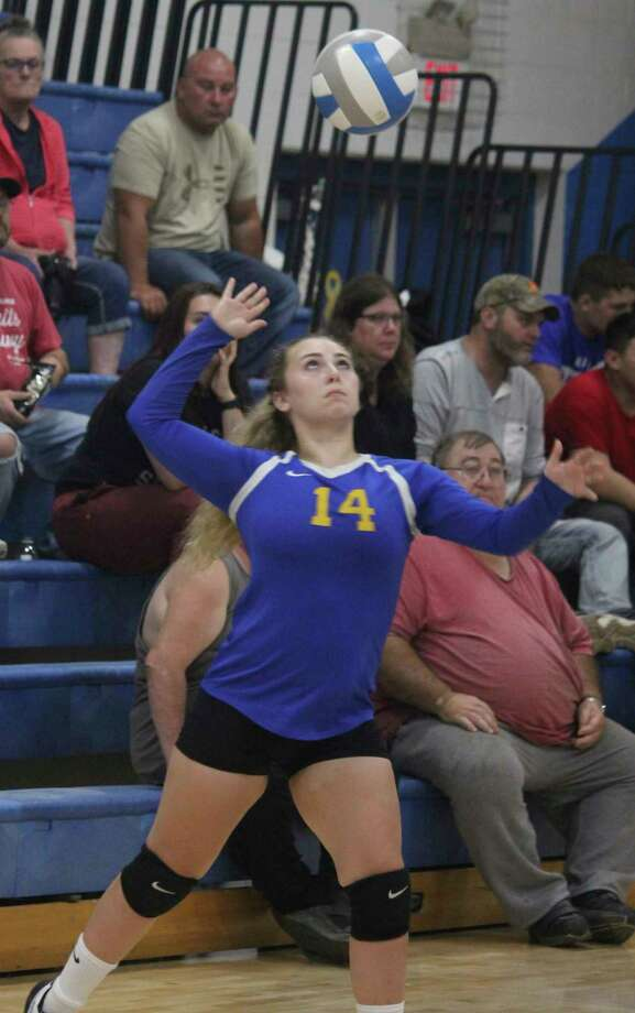 One of Livi Hopkins' sports at Evart was volleyball. (Herald Review photo file)