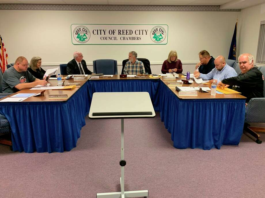 The Reed City city council met virtually April 22, where they made the decision to extend the closure of City Hall and city parks, and the suspension of rentals at the Depot. (Herald Review file photo)
