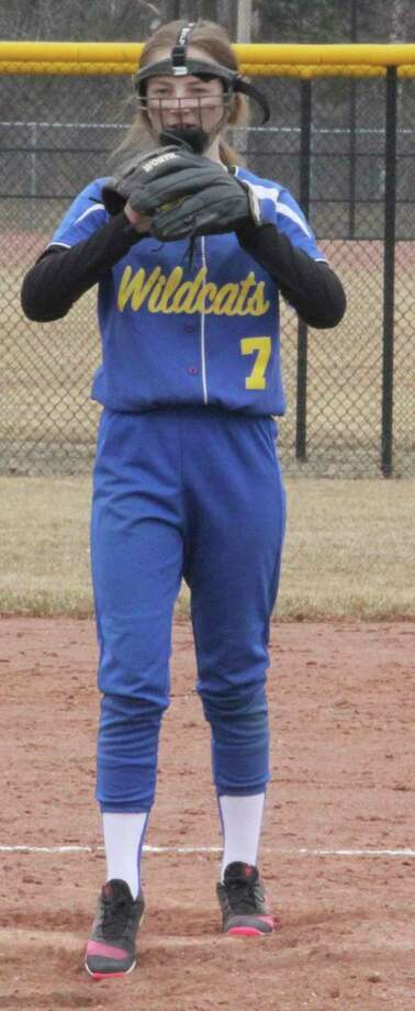Ava Retlewski would have been in her sophomore season as an Evart pitcher. (Herald Review file photo)