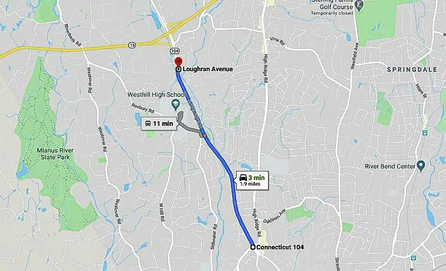 Beginning Monday, resurfacing work begins on a nearly two-mile stretch of Long Ridge Road (Route 104) in Stamford. The Department of Transportation said the project consists of milling and resurfacing 1.9 miles of the road. Photo: Google Maps