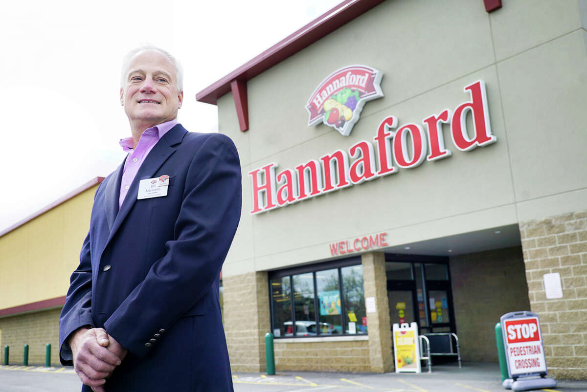 Bill Marinello, Hannaford Supermarkets? store manager, is seen outside the East Greenbush store on Monday, April 20, 2020, in East Greenbush, N.Y. (Paul Buckowski/Times Union)