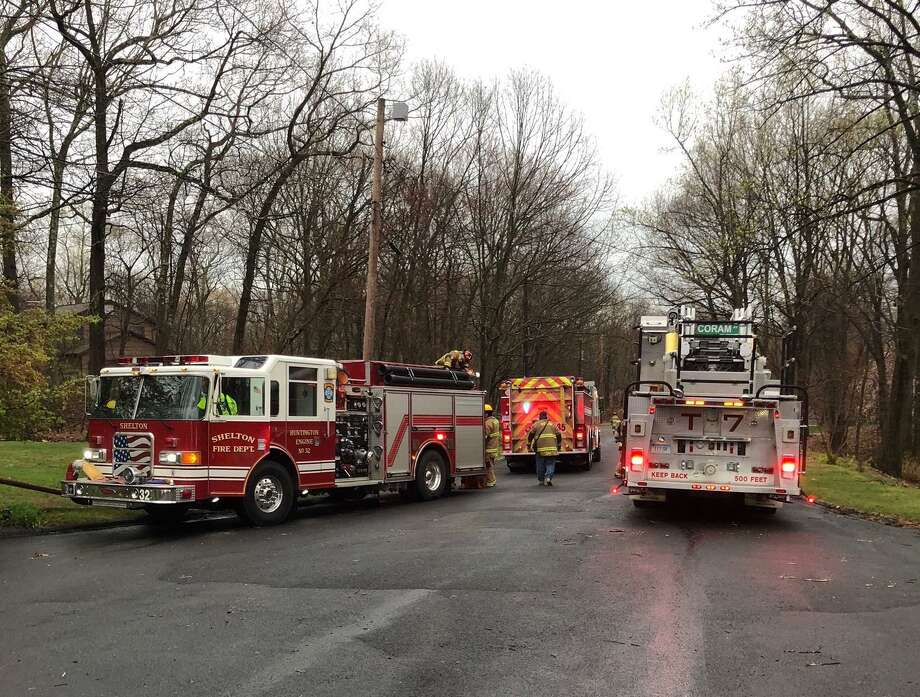 More than 20 firefighters responded to a structure fire at a Buck Hill Road home Tuesday, April 21. Photo: Shelton Fire Department / Contributed Photo / Connecticut Post