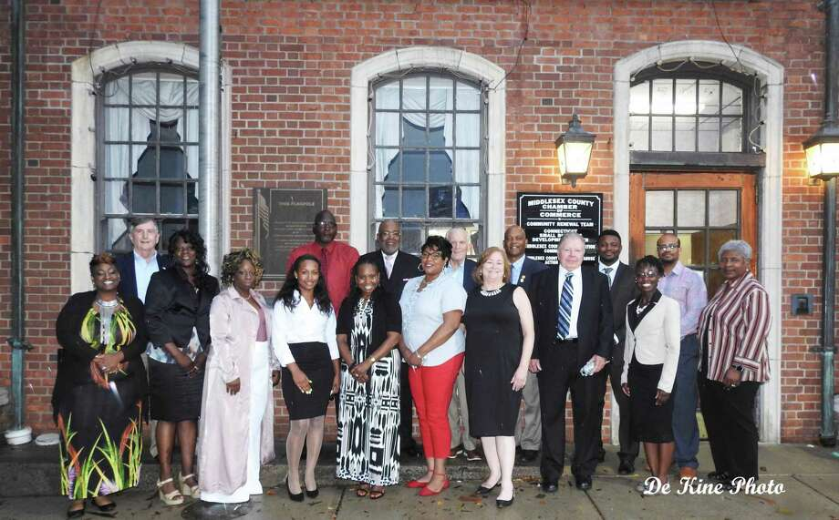 The ninth session of the Middlesex County Chamber of Commerce Side Street to Main Street Business Know-How program will launch online in May. Shown here, 2018 participants receive their certifications at the office in Middletown. Photo: Contributed Photo