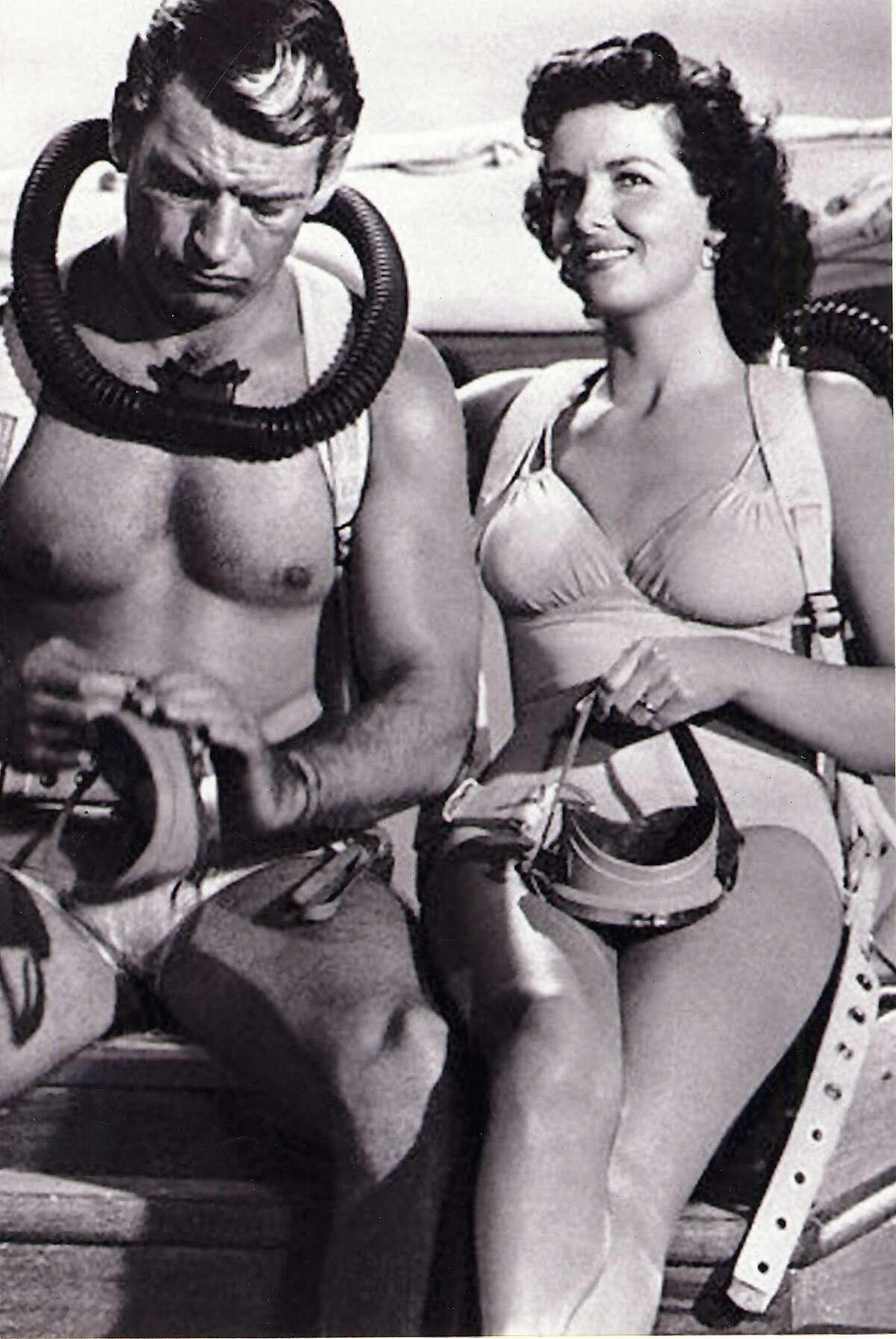 Jane Russell and Richard Egan Underwater