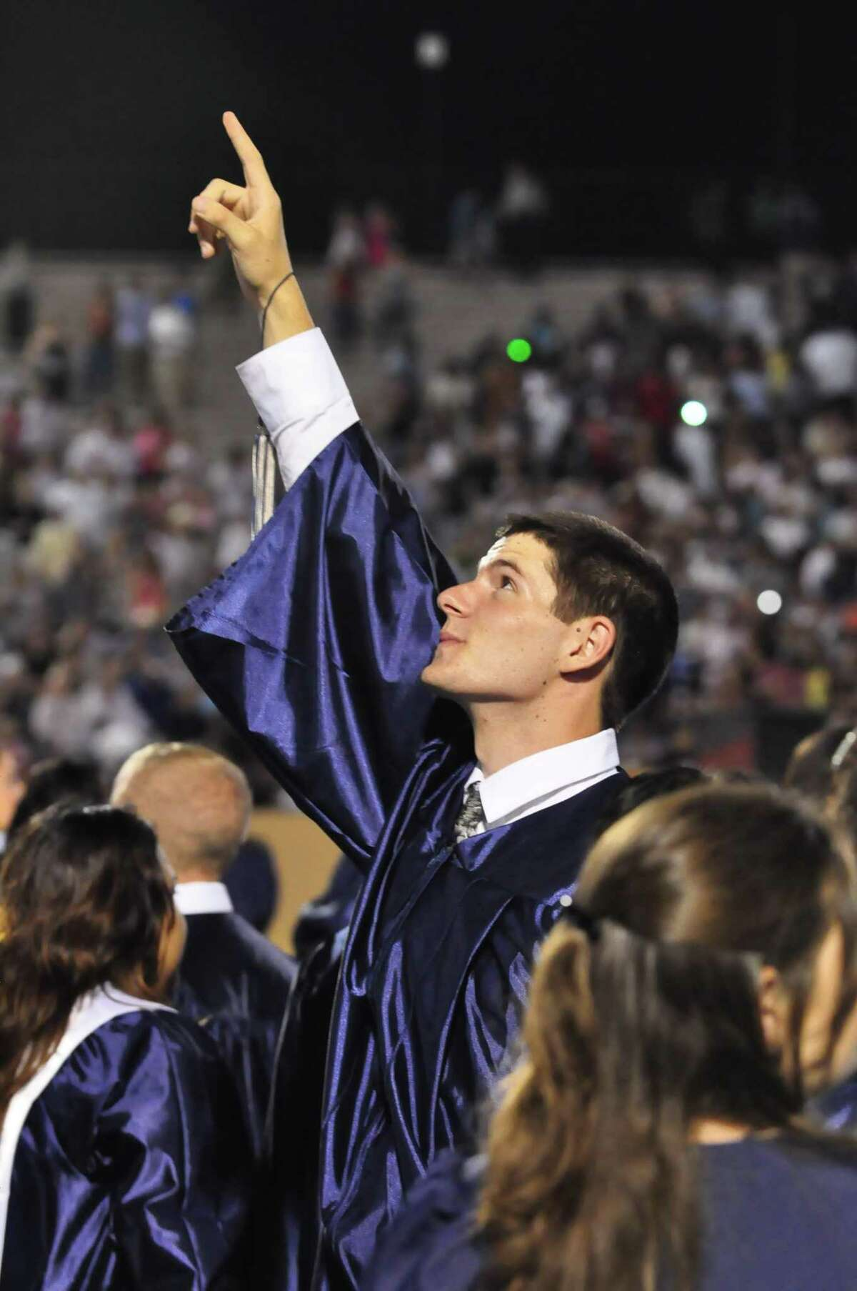 The joy of experiencing high school graduation ceremonies, such as Manvel High School grad Justin Cook displayed in 2009, is planned for this year's Alvin ISD graduating seniors despite the novel coronavirus pandemic. Virtual grad ceremonies are set for May but in-person vents are planned for July.