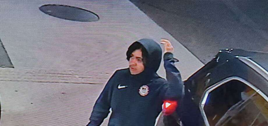 Southbury police are trying to identify this indivdual who was seen on surveillance camera stealing a 2016 Ford Explorer at the Shell gas station on Main Street North early Tuesday morning. Photo: Southbury Police Department