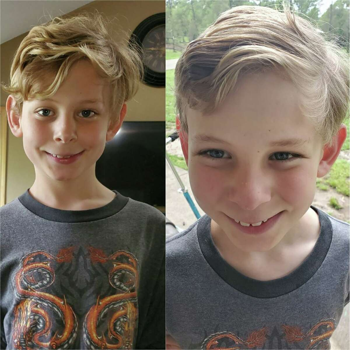 As Houstonians continue sheltering in place, many have turned to coronacuts as an option for their growing hair issues. Here is a before and after shot of Grace Sommerville's first time ever cutting her son's hair.