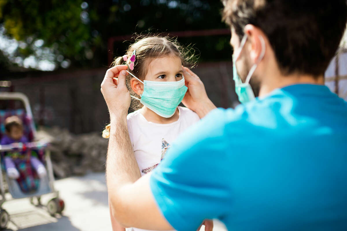 Kids ages 2 to 6 wearing a mask can be tricky and parents need to use their best judgement.
