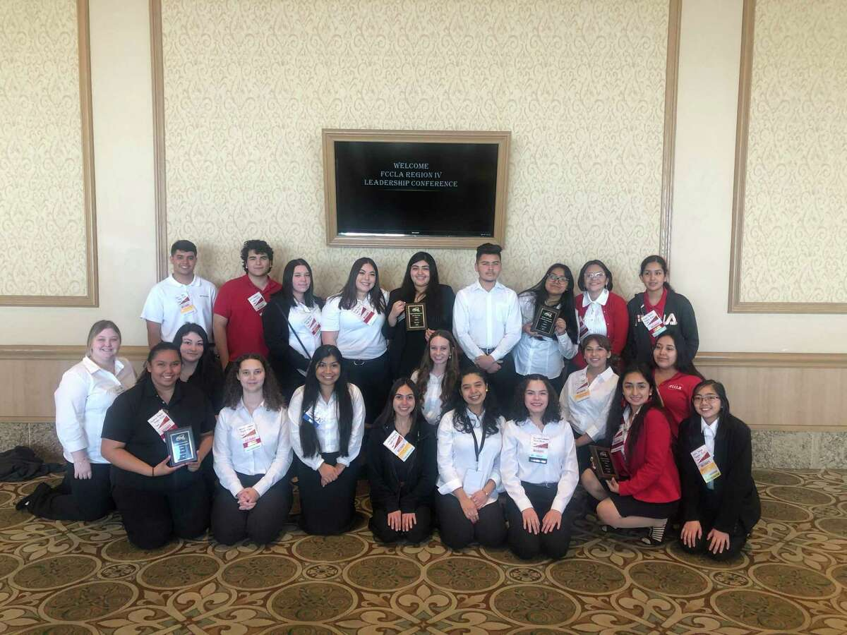 Twenty-five Dayton High School students traveled to Galveston in February for the Family, Career, and Community Leaders of America (FCCLA) Region IV Leadership conference and had five teams qualify for the state conference in April.