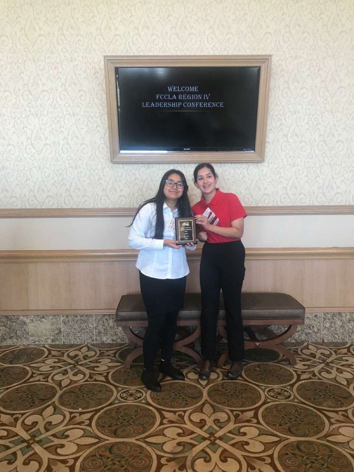 Arely Vazquez and Nurpur Purohit placed fourth in state on the Nutrition and Wellness team.