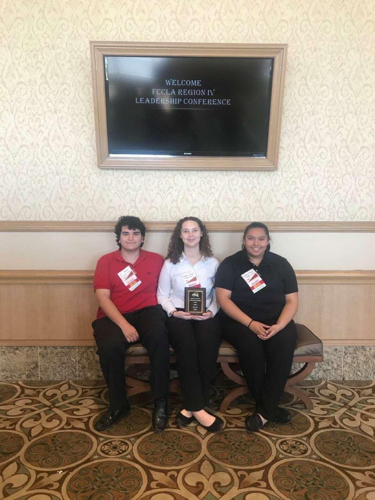The Culinary Math Management team of Erik Medellin, Cherokee Johnson and Carolina Tinajero won fourth place at state.
