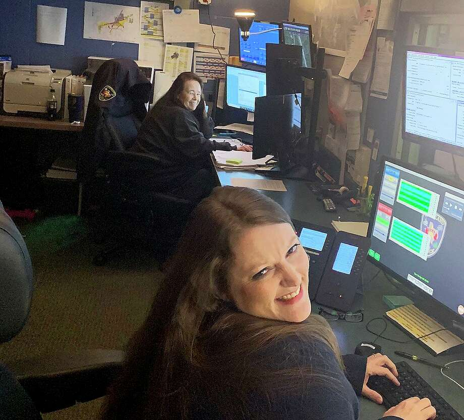 Inside the dispatch center, employees try to keep it light in order to handle the stress of the crisis situations they have to solve every day on duty. Cleveland celebrated their telecommunicators for their hard work this week. Photo: Submitted