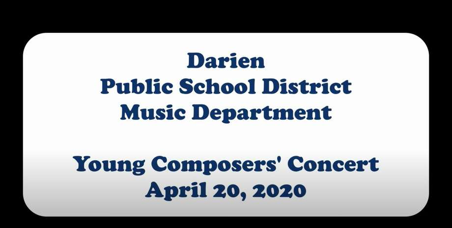 Darien's Young Composers concert is available to watch on YouTube. Photo: Darien School District