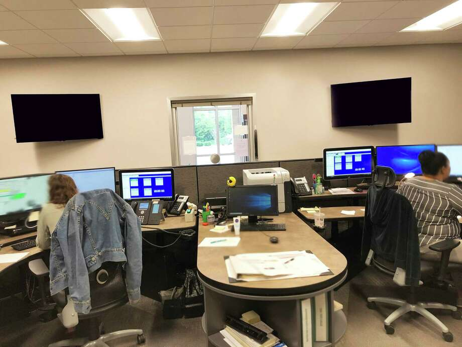A look inside the city of Dayton Dispatch Center. Telecommunicators are being celebrated this week for their heroic work every day answering the calls of the public and law enforcement. Photo: Submitted
