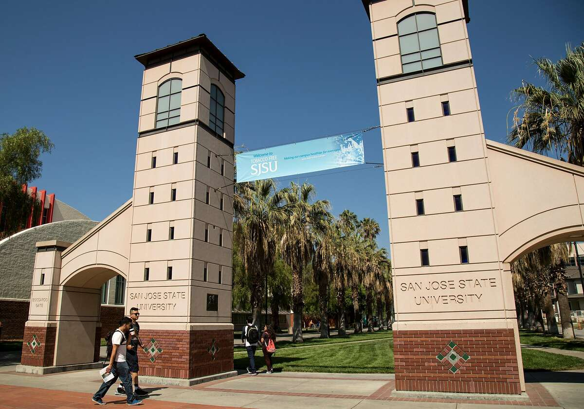 The Boccardo Gate on Fourth Street and Paseo de San Carlos at San Jose State University