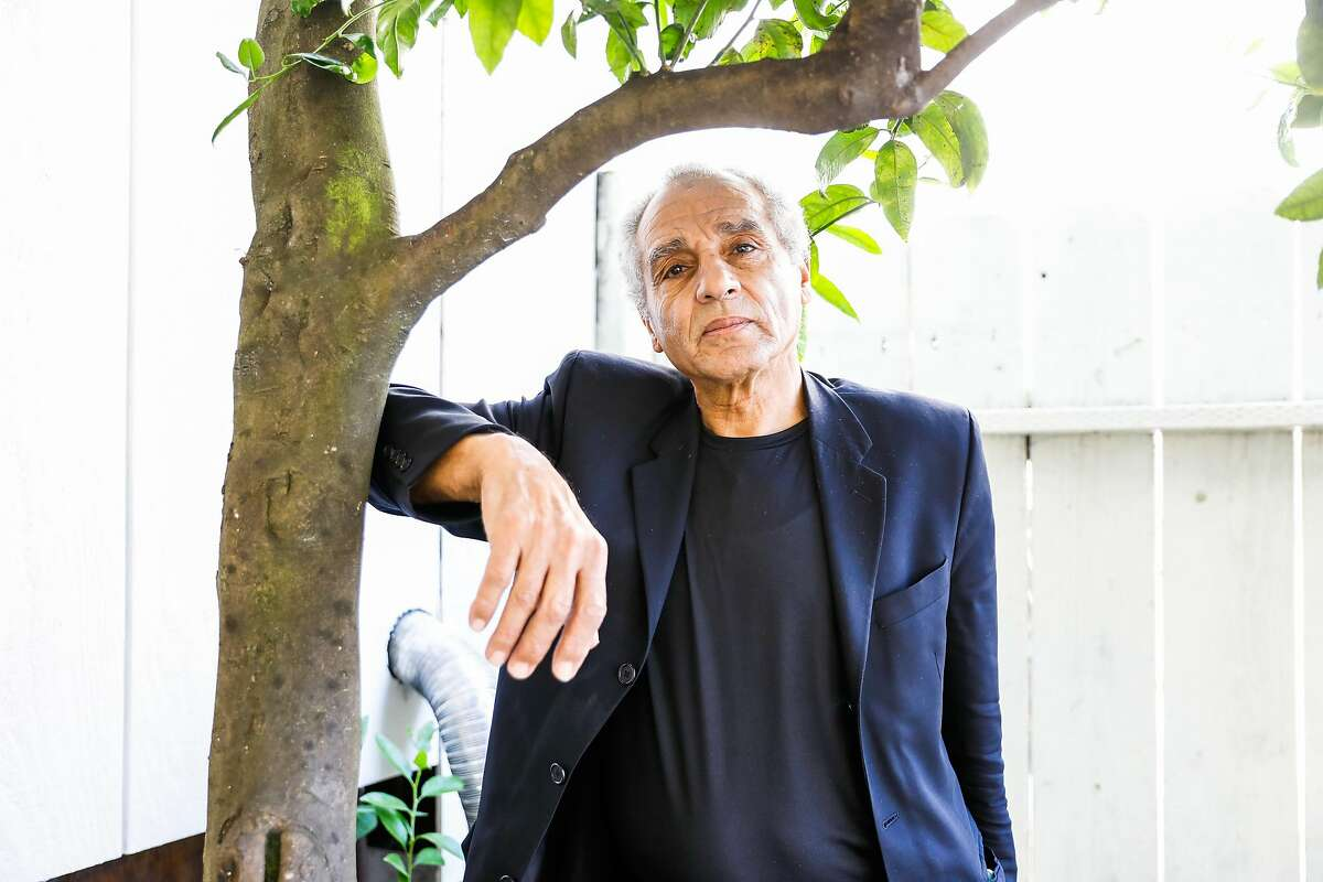 Hany Metwally, who had open heart surgery two weeks ago poses for a portrait outside of his home on Wednesday, April 22, 2020 in Oakland, California.