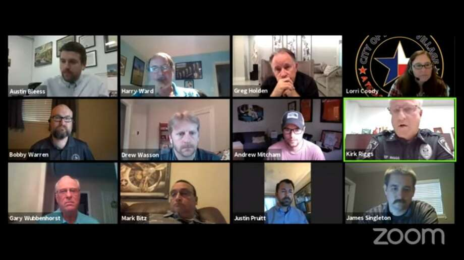 The Jersey Village City Council met over Zoom for a remote public meeting on April 20, 2020. Photo: Provided By Jersey Village
