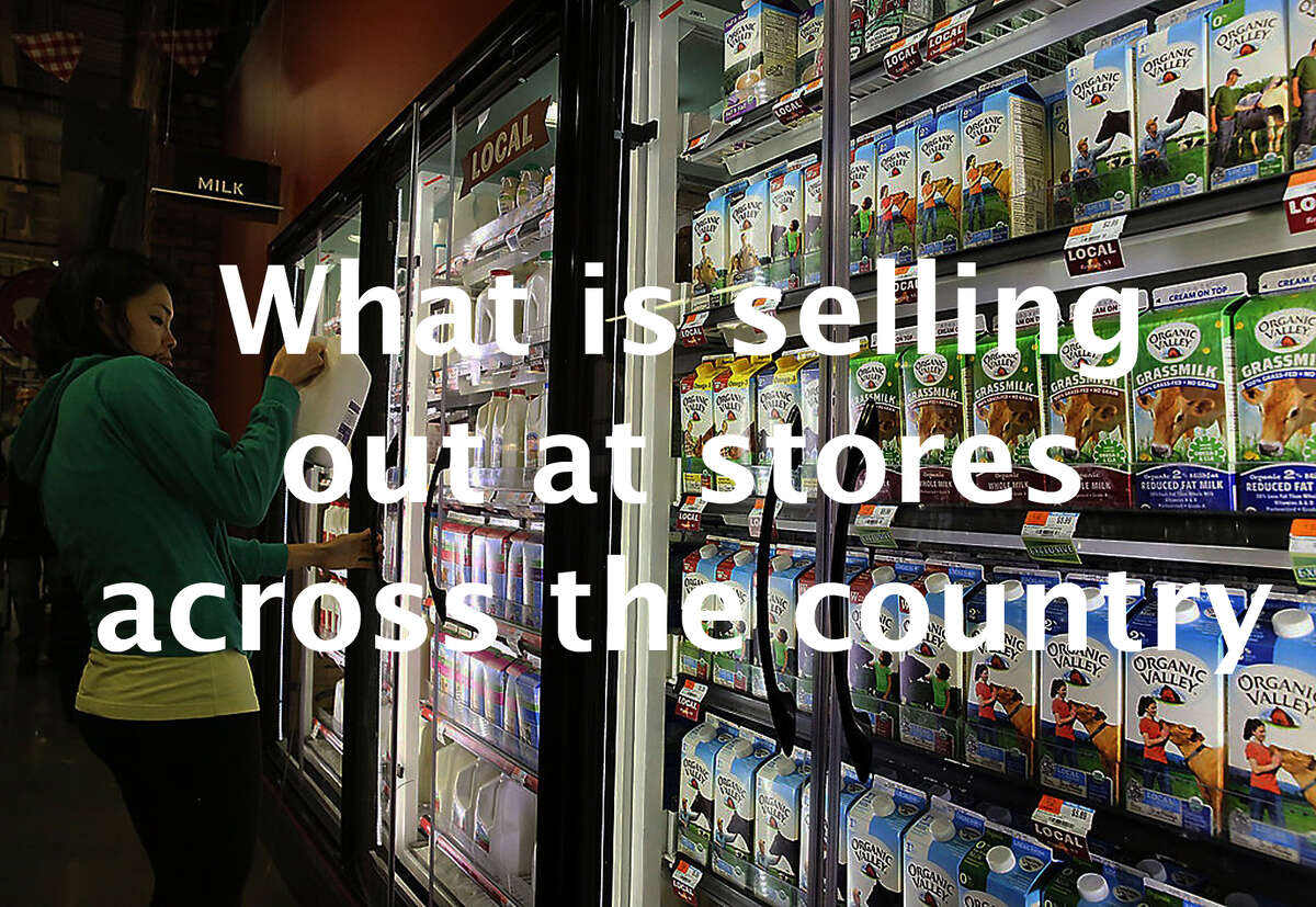 >>Click through the slideshow to see some of the things that are selling out at stores that aren't necessarily cleaning supplies or toilet paper.