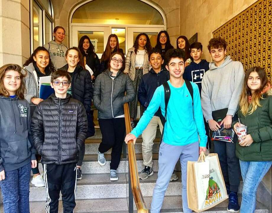 Mentors and mentees of the Community Integrated Mentoring Program at Fair Haven Middle School, which has transferred its efforts into donating to needy families in the community during the present pandemic. Photo: Contributed Photo