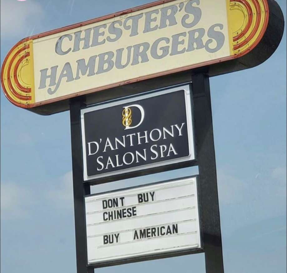 Chester's Hamburger's, a longtime San Antonio chain, is responding to feelings of 'outrage and disgust' caused by a marquee message at one of the locations. Though the Loop 410 location shares the outdoor sign space with another business, owner Dale Mabry confirmed the message came from Chester's. Photo: Courtesy,  Kevin Chu