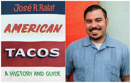 "This combination photo shows ""American Tacos: A History and Guide,"" left and a portrait of author  JosA© R. Ralat.  The book illustrates Ralat's travels throughout the United States while he examines the global metamorphosis of a food that transcends borders, barriers, or bullets. (University of Texas Press, left, and Jose R. Ralat via AP)"