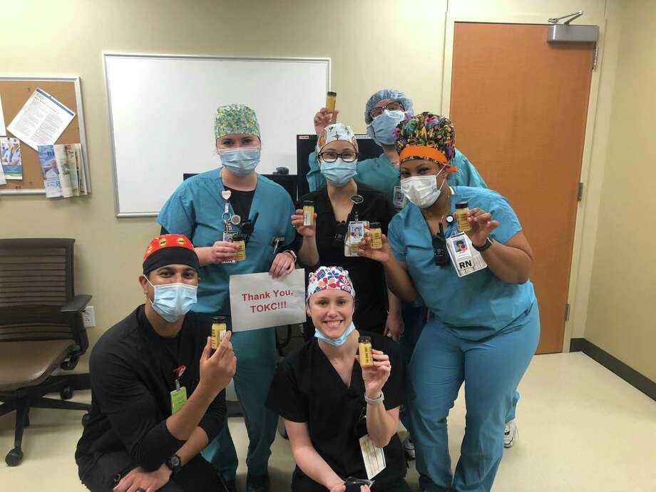 Partnering with the Triumph Over Kid Cancer Foundation, Main Squeeze Juice Company donated 600 immune-boosting shots to the frontline staff at Memorial Hermann-Sugar Land Hospital.