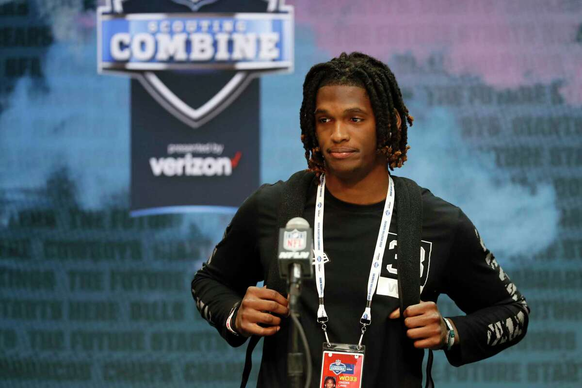 Oklahoma wide receiver Ceedee Lamb is projected as a first-round pick in Thursday's draft.
