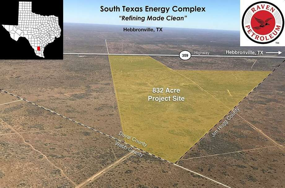 Shown is the plot of land at the corner of Duval County where the South Texas Energy Complex would be built. Photo: Courtesy Of Raven Petroleum