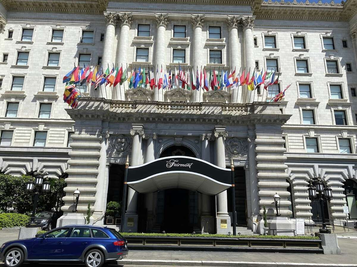 From the street, San Francisco's Fairmont Hotel looks normal with flags snapping in the wind, and Tony Bennett's statue out front, but it's a lot different when you arrive at the front door.