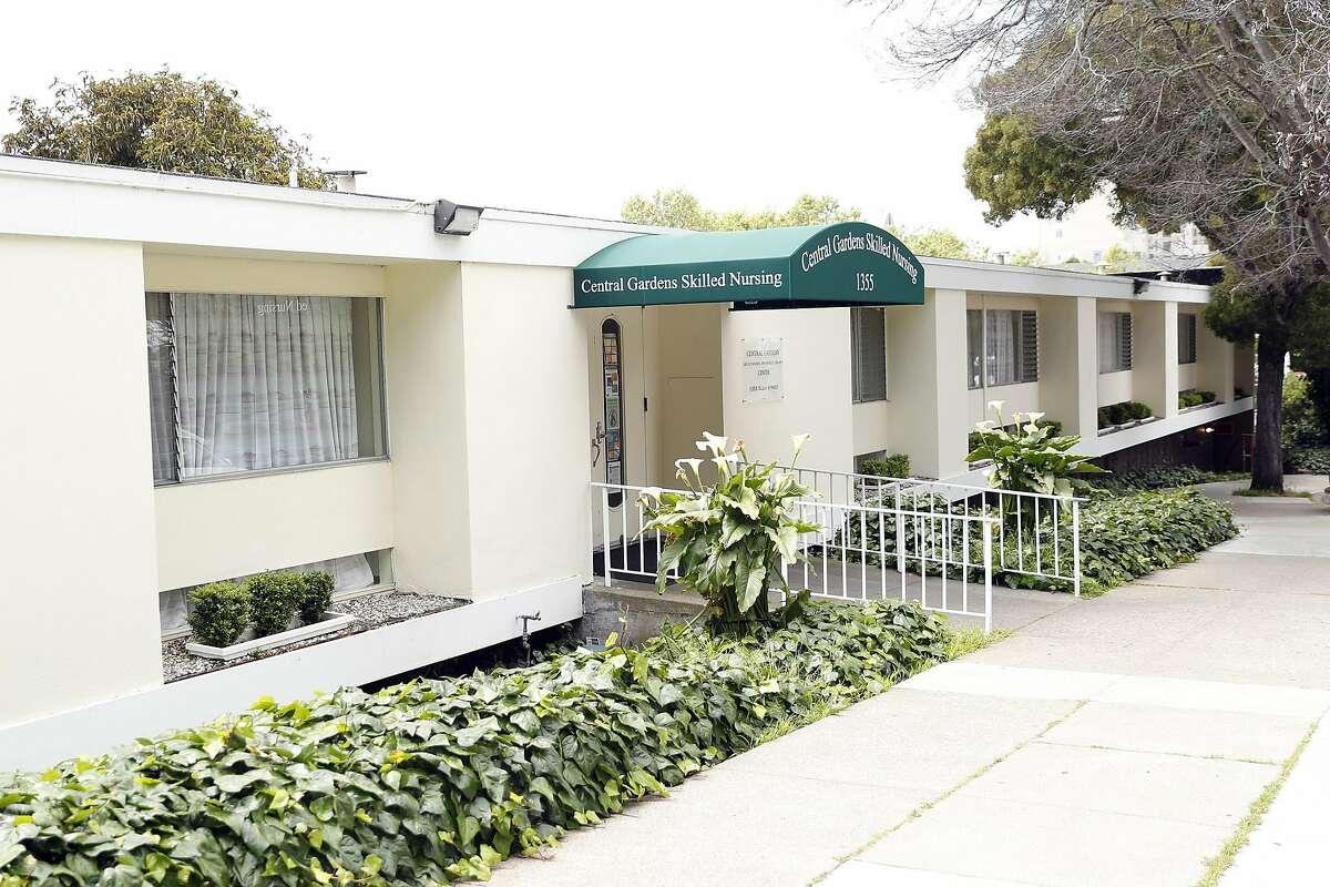 Central Gardens Skilled Nursing facility on Ellis Street in San Francisco, Calif., on Sunday, April 19, 2020.