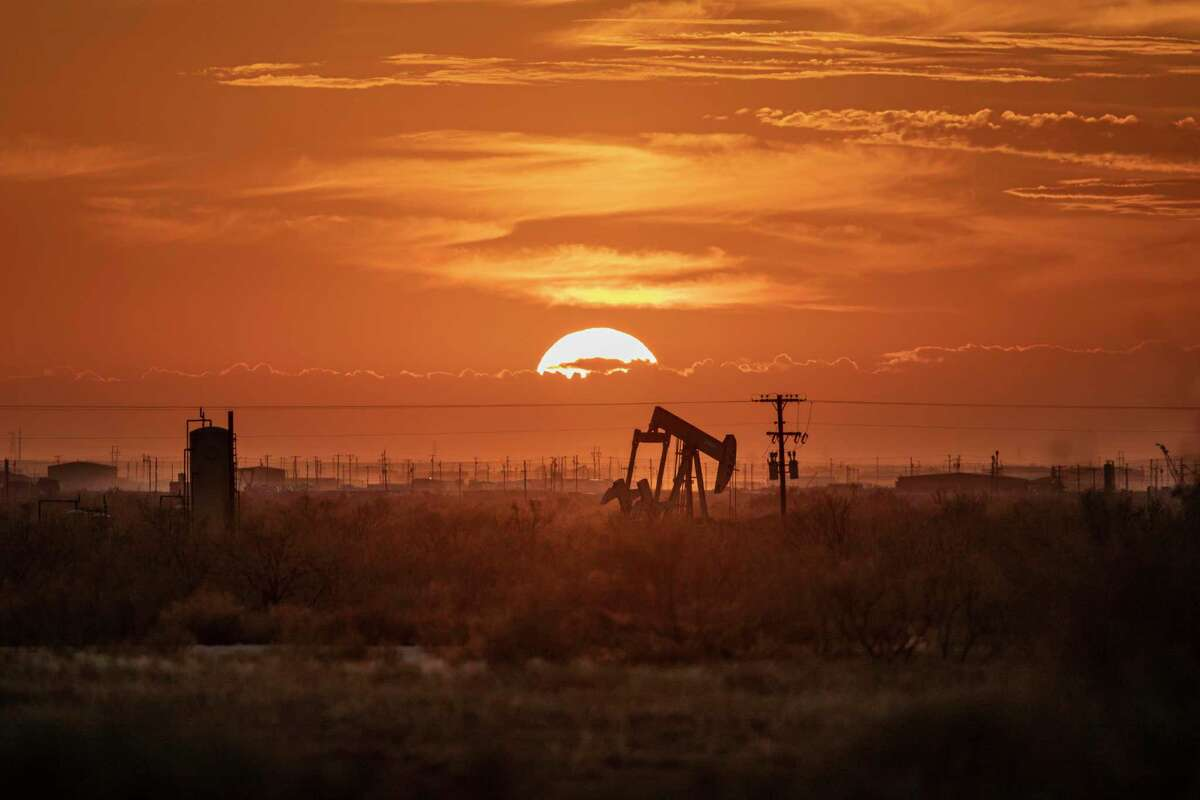 A pump jack is seen in the Permian Basin in Texas in this November 2019 photo. Methane emissions from the Permian Basin of West Texas and southeastern New Mexico, one of the largest oil-producing regions in the world, are more than twice as high as federal estimates, a new study finds.
